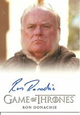 Game of Thrones Season 4 Ron Donachie (Ser Rodrik Cassel) Autograph Trading Card