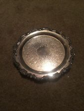 EPCA BRISTOL SILVER PLATE BY POOLE ORNATE FOOTED TRAY#75