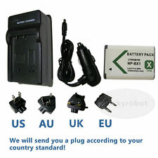 Battery+charger for SONY NP-BX1 Cybershot HDR AS100 PJ240E HX60V HX400V DSC-RX1r