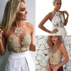 Ladies Crochet Tank Tops Sleeveless Lace Vest Blouse Bralette Bra Cami Crop Top