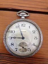 Antique Vintage Waltham Train Railroad Type Minutes Seconds Pocket Watch