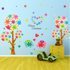 Huge elephant Pan dora tree Wall Vinyl Decal Sticker Removable Nursery Kids Baby