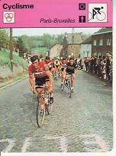CYCLISME carte cycliste fiche photo PARIS BRUXELLES WALTER GODEFROOT