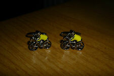 YELLOW JERSEY TOUR DE FRANCE CYCLIST STYLE CUFFLINKS