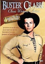 Buster Crabbe Classic Westerns DVD 4 Features - BRAND NEW SEALED
