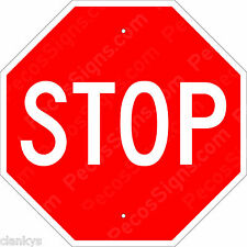 "STOP SIGN - NEW ALUMINUM SIGN - 12"" X 12"" Street Sign - Made in USA by US Vets"