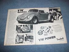 "1982 BGW Custom Bodied Volkswagen Vintage Info Article ""VW Speedster"""