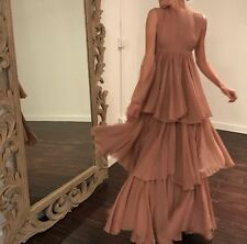 NWT GUCCI $7000 Runway Stunning Alessandro Pleated Chiffon Dress Gown, Sz 40/6