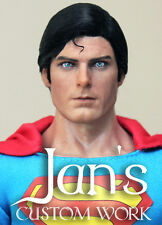 RARE 1/6 Hot CUSTOM REPAINT REHAIR Superman christopher reeve toys head sculpt