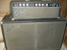 1964 Fender Bassman 50 cab 6G6B Tuxedo blackface white knob black face amp bass