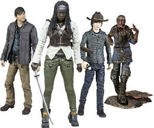 "THE WALKING DEAD - 5"" TV Series 7 Action Figure Set (4) McFarlane #NEW"
