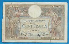GERTROLEN  Billet 100 FRANCS  Luc Olivier Merson 4-8-1938  B.60347