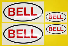 Classic Car Rally/Race BELL sticker set 2 large 2 small GLOSS LAMINATED
