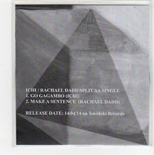 (FC985) Ichi / Rachael Dadd, split single - 2014 DJ CD