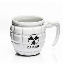 Granate Tasse Danger Granatengriff Becher Kaffeetasse Gun Mug Kaffeebecher weiss