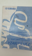 Yamaha Motorbike YZ400F(L)/LC Factory Owners Service Manual. 1st ed., Sept 1998