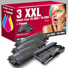 3 XXL Toner für Brother TN-2005 & Trommel HL 2035