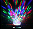 LED Full colour Crystal Auto Rotating Disco DJ Stage Light Bulb BAYONET OR SCREW