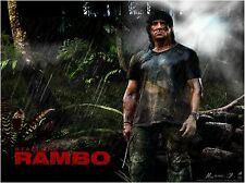 18x24in Rambo Movie Poster / Sylvester Stallone / John Rambo