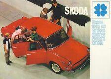 Motokov Skoda S 1000 MB PKW car auto brochure Prospekt um 1967