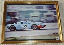 Poster encadré Ford GT40 mk2 victorieuse Lemans 1966 40x50cms