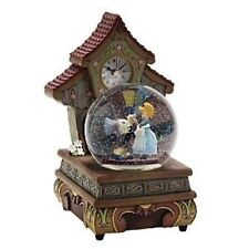 Disney Pinocchio Jiminy Figure Dancing Musical Snow Globe Clock ANIMATED NIB