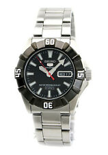 SEIKO MEN AUTOMATIC BLACK BEZEL SNZF61 WATCH SNZF61J1 MADE IN JAPAN