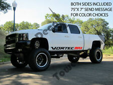 "VORTEC MAX rocker panel door runner decals Chevy Silverado GMC Sierra 75""x7"""