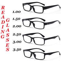 Unisex Reading Glasses Black Frame 4 Style 1.0 1.5 2.0 2.5 3.0 3.5 Strengths