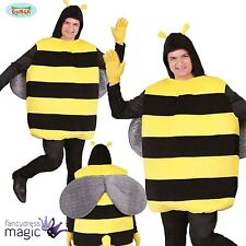 *Adult Bumblebee Bug Killer Bee Mens Stag Do Fancy Dress Novelty Costume Outfit*