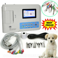 VET Veterinary 3 Channel EKG ECG Machine electrocardiograph Printer Software