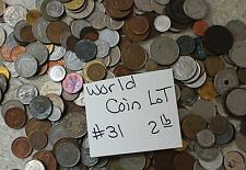 Lot #31 Foreign 2 lb Coin Lot Assorted Countries Assorted Dates
