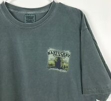 Mens Large Nantucket Island T Shirt~Take Only Pictures, Leave Only Foot prints