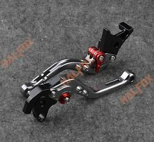 NTB Gray brake clutch levers KAWASAKI NINJA 300R 2013-2014