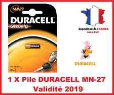 1 Pile DURACELL MN-27/A27 / LR27 - 12V DLC 2019