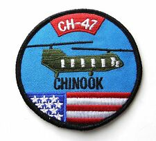 BOEING CH-47 CHINOOK TWIN ENGINE HELICOPTER EMBROIDERED PATCH 3 INCHES