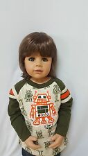 NWT Exclusive Masterpiece Doll Julian Brunette Blue Eyes Monika Peter-Leicht 32""