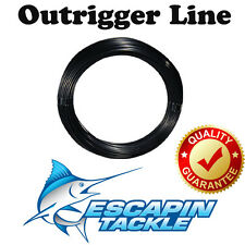 Black Outrigger Rigging Line. 100 feet / 30.5m. Suits all Outriggers & Taglines