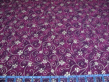 3 Yards Cotton Fabric- RJR Holiday Accents Christmas Met Gold Poinsettia Swirl R