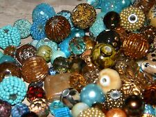 NEW BLUE/Brown 20/pc Jesse James beads lot loose Beads mixed RANDOM PICK (bR6)