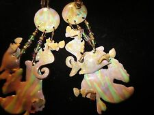 SALE  LUNCH AT THE RITZ SEAHORSE STYLE EARRINGS CLIPS AND ELLEGANT