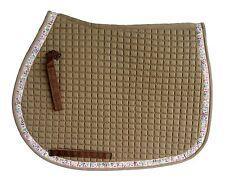 PRI AP Pad with Ribbon Deco Hearts and Shoes Gray Ribbon on Brown Pad