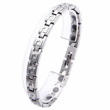 Stainless Steel Charm Magnetic Magnet Bracelet Bangle Link Chain 11mm