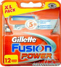 24 Stück Gillette FUSION POWER Rasierklingen/Klingen NEU & ORIGINAL !