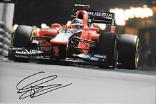 Charles Pic SIGNED 12x8  F1 Marussia-Cosworth MR01 ,Monaco GP 2012