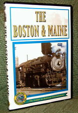 """cp060 TRAIN VIDEO DVD """"STEAM ON BOSTON & MAINE"""" VINTAGE FILM"""