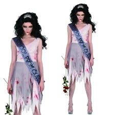 Erwachsene Damen Zombie Prom Queen Halloween Kleid Party Kostüm V37 902