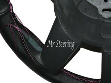 FOR JEEP LIBERTY KJ 2001-2007 BLACK NEW LEATHER STEERING WHEEL COVER PINK STITCH