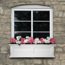 "New Mayne Fairfield 36"" Window Box Outdoor Flower Planter - White 3'"