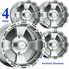 "FOUR 14"" 14x8 4/115 4+4 RIMs WHEELs fits some MINI-TRUCK minitrucks & Arctic Cat"